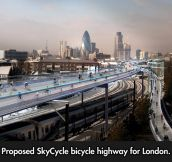 Bicycle highway for London