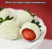 Coated strawberries