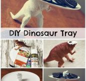 DIY dinosaur tray