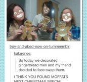 Gingerbread face swap
