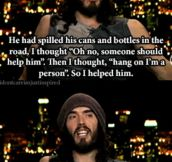Lovely Kind Man Helps Man Pick Up Bottles