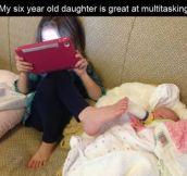 The art of multi-tasking at it's finest