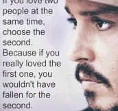 Johnny Depp on love…