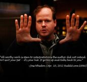 Joss Whedonon on art…