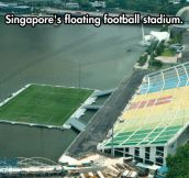 Floating football stadium…