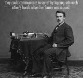 Tomas Edison's secret love code…