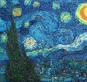 Starry Night made out of jelly beans…