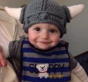 Adorable knitted hat…