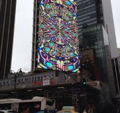 Kaleidoscopic billboard…