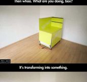 Box in a room becomes something awesome…