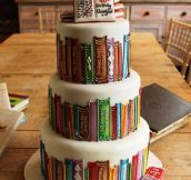 If you love books, then this is your cake…