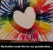 Rainbow heart…