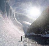 Beautiful frozen wave in Antarctica…