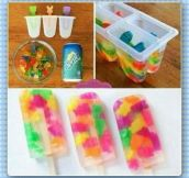 How to make gummy bear popsicles…