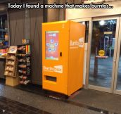Burritos machine…