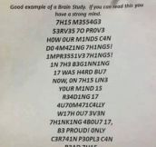 Can your brain read this?