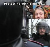 An original way to protest…