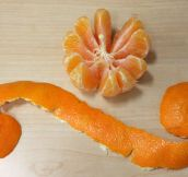 Properly peeled tangerines…