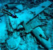 Underwater plane wreck…