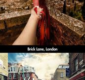 Photographer follows his girlfriend around the world…