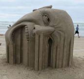 Sand sculpture…