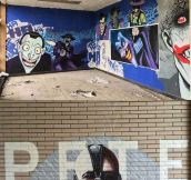 Just some vandalism in an abandoned school building…
