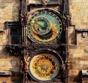 600 year old astronomical clock in Prague…
