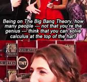 Awkward question for Mayim Bialik…