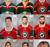Evolution of a hockey player…