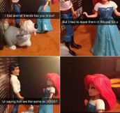 Disney Princesses deal with dating drama…