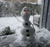 Say hello to Olaf the Danish snowman…