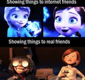 Showing things to friends…