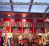 Sales started in Japan…
