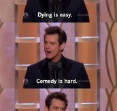 Shots Fired by Jim Carrey at the 71st Golden Globe…