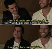 Josh and Liam joking around…