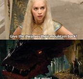 Khaleesi is not happy…
