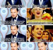Legendary Leo's speech at the Golden Globe Awards…