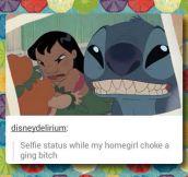 Stitch selfie…