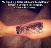 Mona Lisa is watching you…