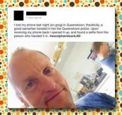 Good Samaritan selfie…