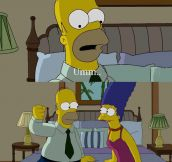 Homer and Marge's sexy time…
