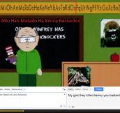 Alphabet in South Park Elementary…