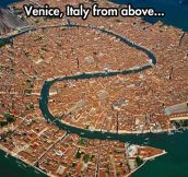 Venice from the sky…