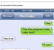 Pregnant belly cakes request…