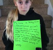 Mom catches daughter cyber-bullying…