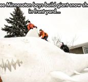 Giant snow shark…
