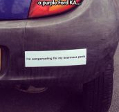 New bumper sticker…