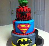 Awesome superhero cake…