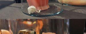 Creepy cat candle…