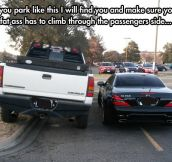 Jerks in the parking lot…